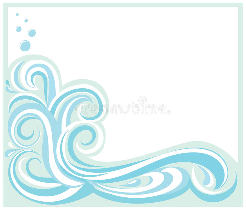 Download Wave stock vector. Illustration of beach, wave, water - 25420192