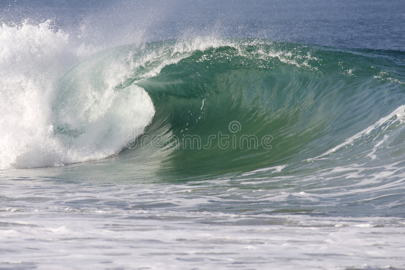Wave. Powerfull wave breaking on the sea shore royalty free stock photography