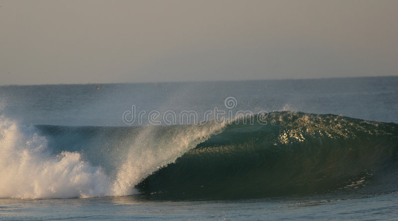 Wave. Sunrice in the beach from Puerto Escondido , Mexico royalty free stock images