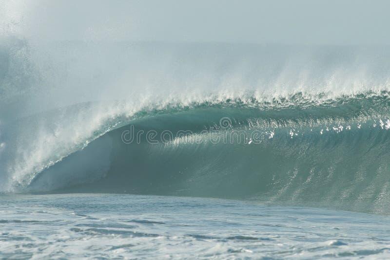 Wave. Big and perfect wave in Puerto Escondido stock photos