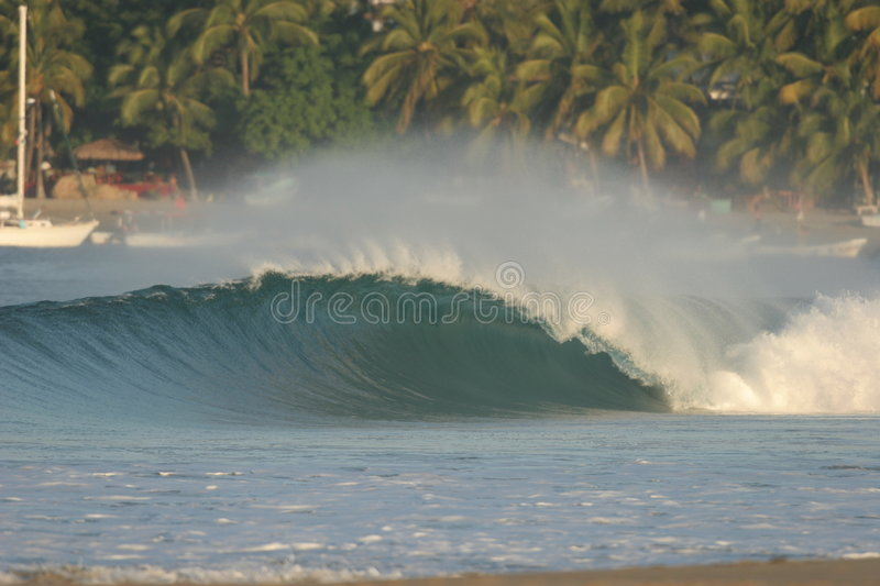 Wave. Perfect wave in Puerto Escondido royalty free stock photo