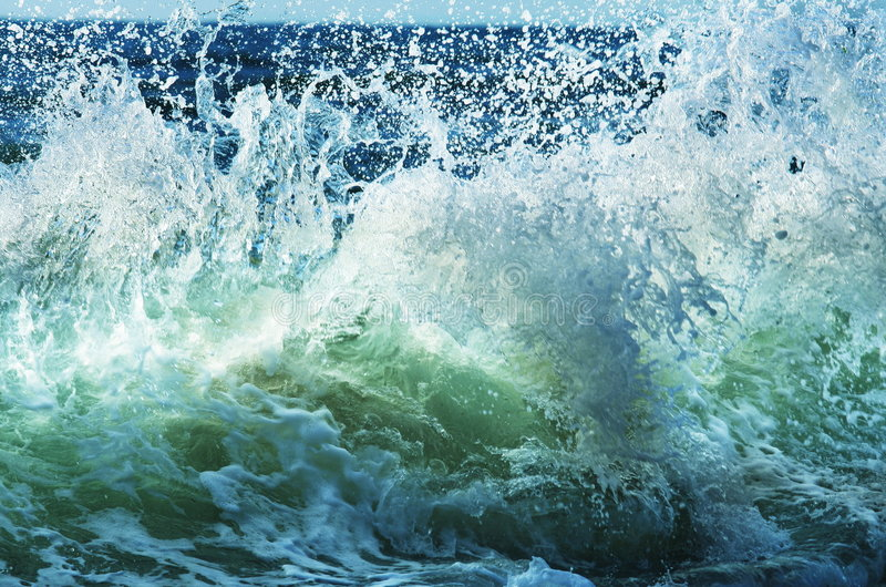 Wave. On the sea beach royalty free stock photography
