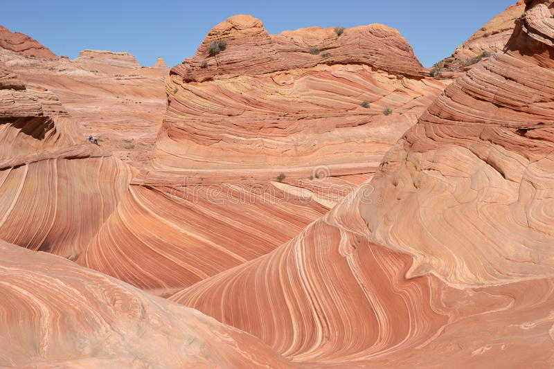 The Wave at Arizona(35). The Wave into the first feeling, they seem like a fairy tale Alice in Wonderland, this graceful wave slide Wonderland Valley, truer stock images