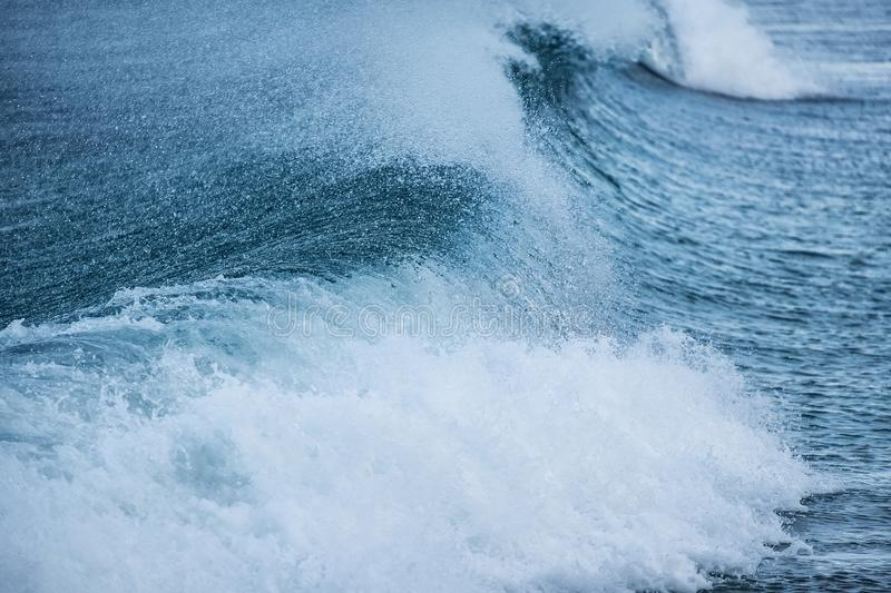 Wave as a background. Beautiful natural composition. In the Norway stock image