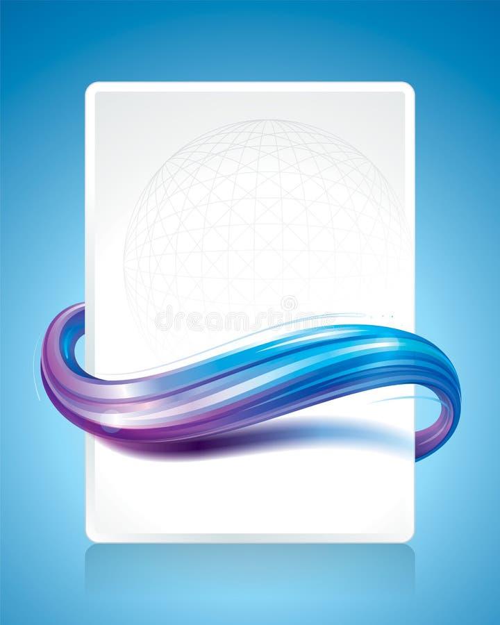 Wave astratto illustrazione di stock