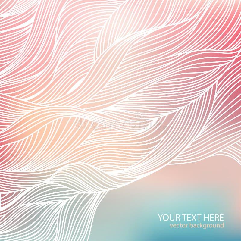 Wave background. Pastel colors. royalty free illustration
