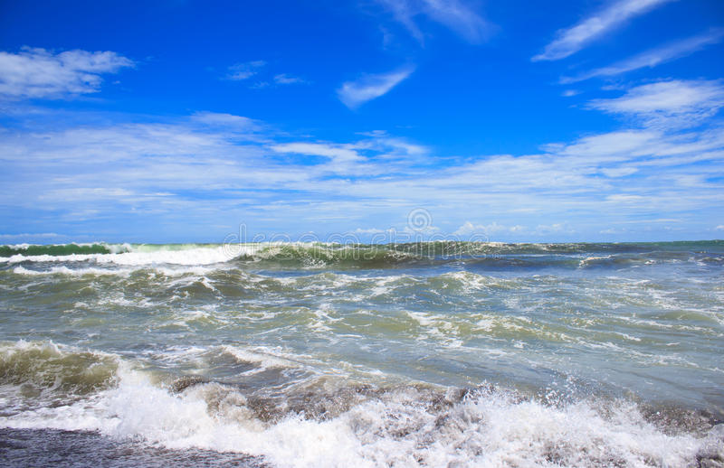 Wave on the beach. In Jaco, Costa Rica stock photography