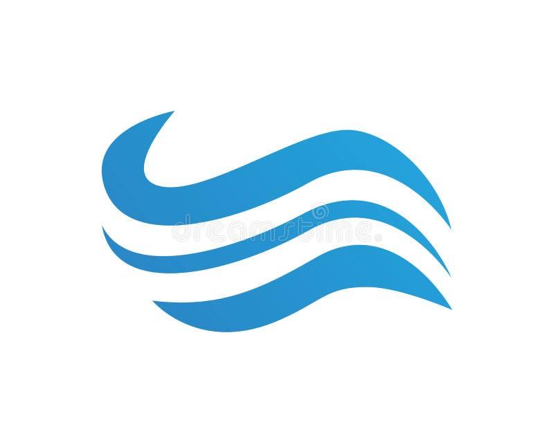 Wave beach holiday logo design concept.  royalty free illustration