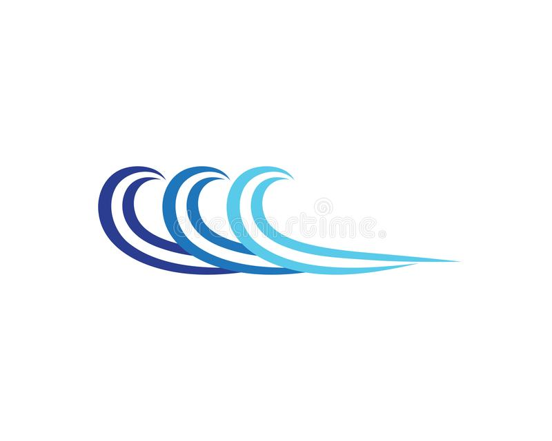 Wave beach logo and symbols vector template. Icons vector illustration