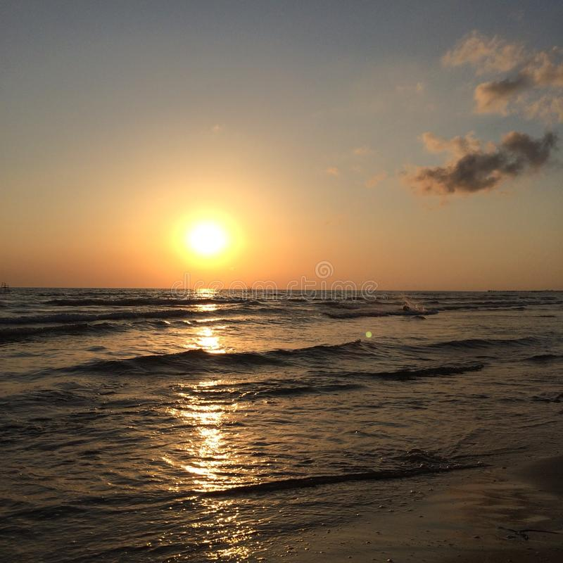 Summer. Wave Black Sea Sand sunset royalty free stock images