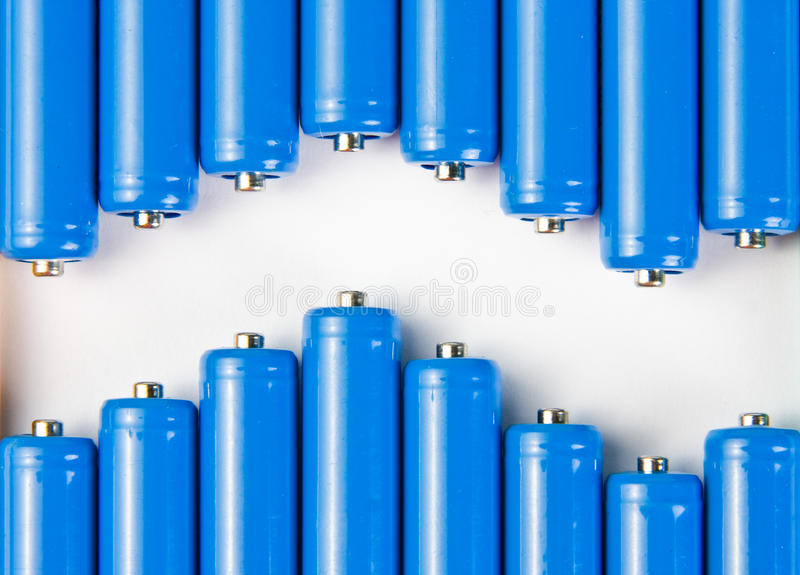 Download Wave of blue batteries stock image. Image of powerful - 14633525