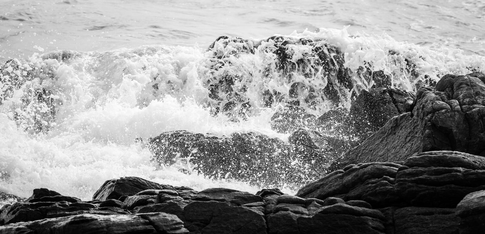 Wave and blue sea royalty free stock images