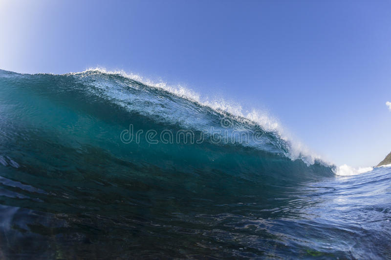 Wave Blue Swimming royalty free stock image