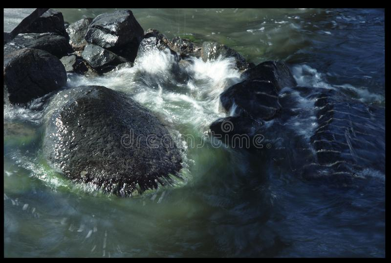 Wave is breaking to shore. royalty free stock photo