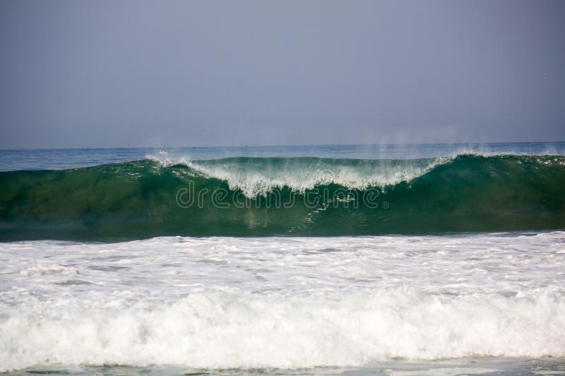 Wave breaking at Zicatela Mexican Pipeline Puerto Escondido Mexico stock images