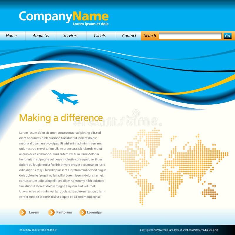 Wave Business Web Template Stock Photos