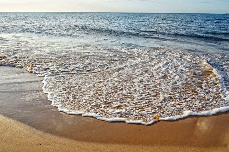 Wave of Caribbean beach stock photo