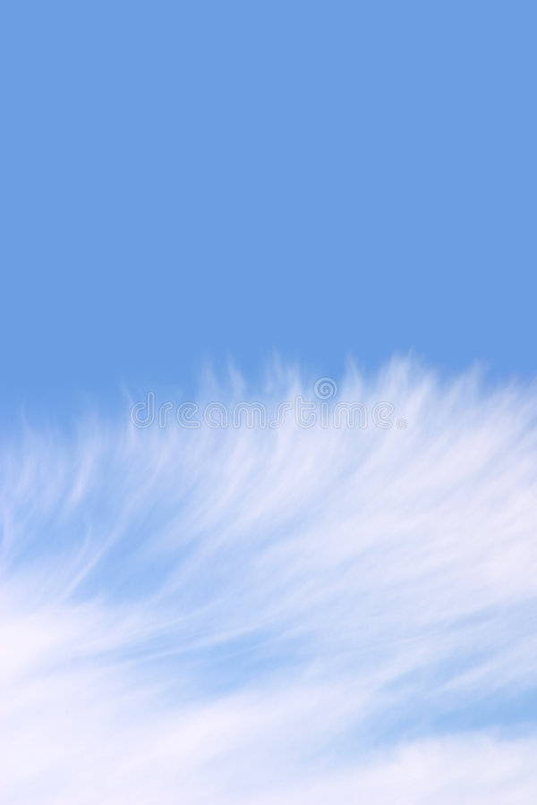 Wave Cloud. A wave-shaped cloud formation royalty free stock photos