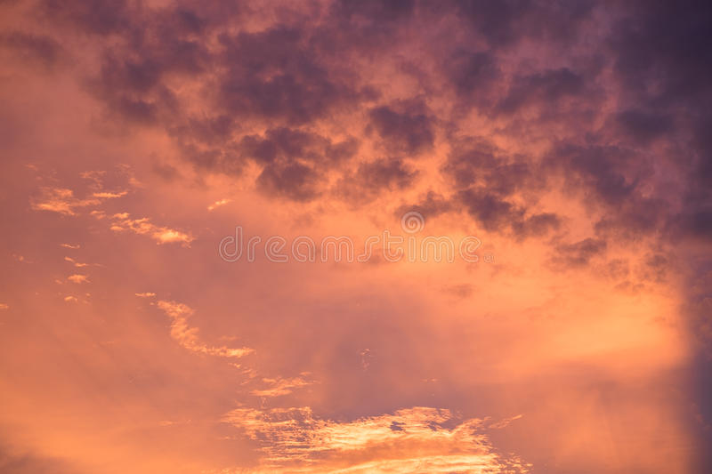 Wave cloud dark colorful in sunset royalty free stock images