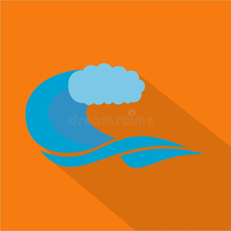 Wave composition icon, flat style. Wave composition icon. Flat illustration of wave composition icon for web stock illustration