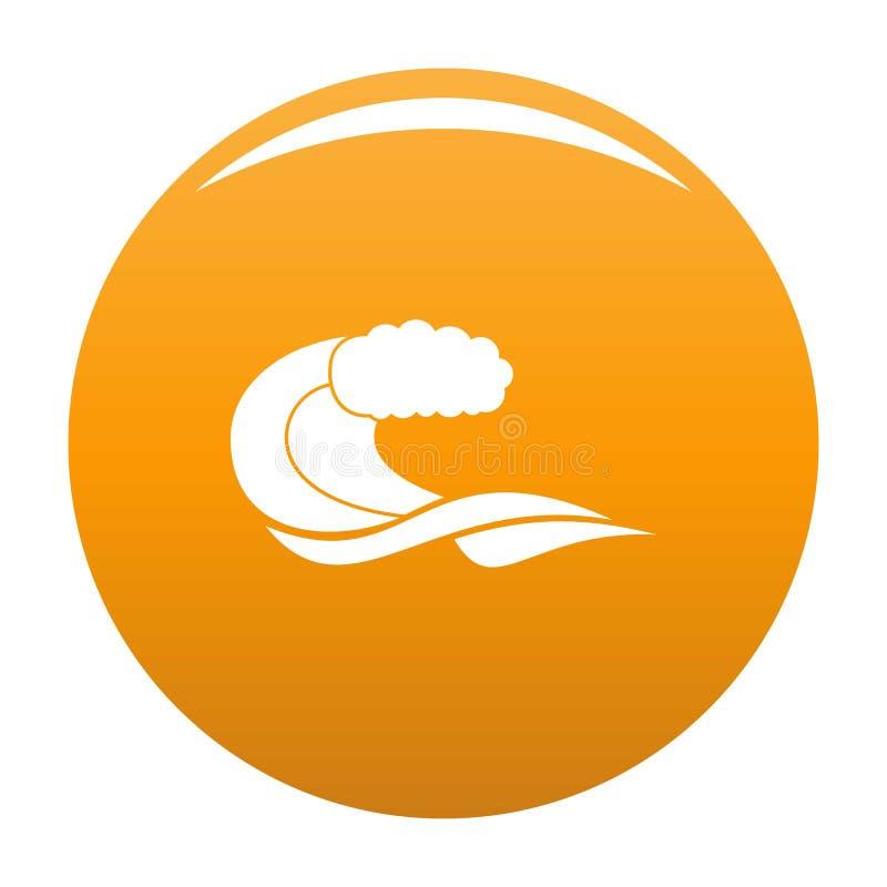 Wave composition icon orange. Wave composition icon. Simple illustration of wave composition icon for any design orange stock illustration
