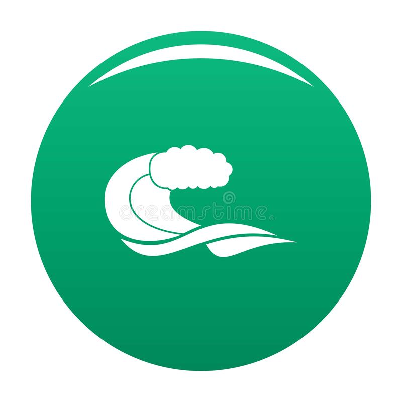 Wave composition icon vector green. Wave composition icon. Simple illustration of wave composition vector icon for any design green vector illustration