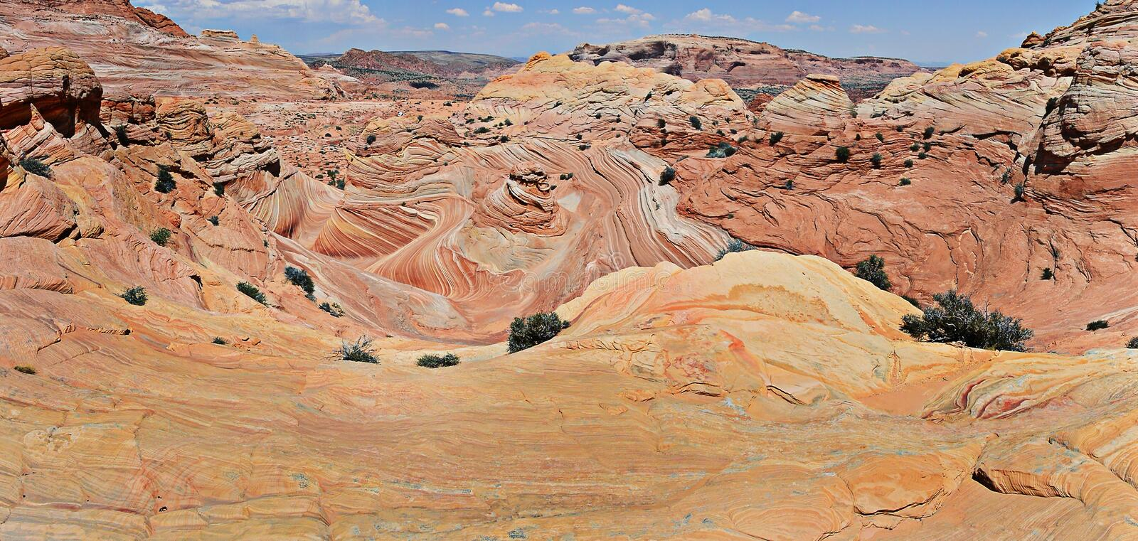 The Wave - Coyote Buttes South royalty free stock photography
