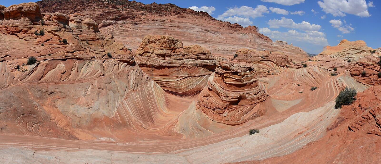 The Wave - Coyote Buttes South royalty free stock images