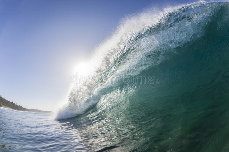 Wave Crashing Blue stock images