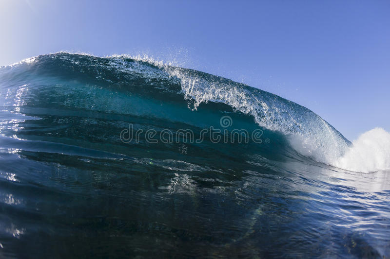 Wave Crashing Blue stock photos