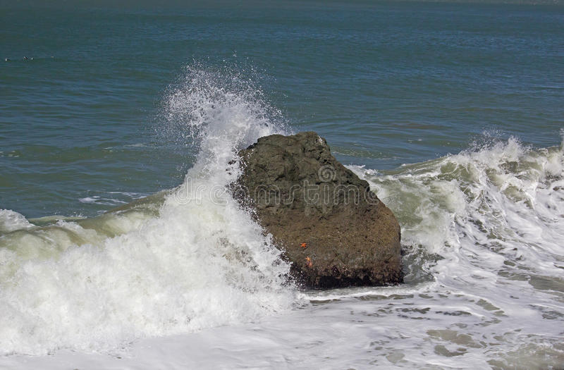 Download Wave Crashing on Rock stock image. Image of rock, image - 25681855