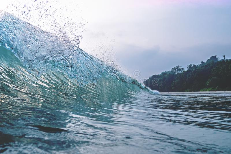 Wave Crest a wave peaks and crests royalty free stock photo