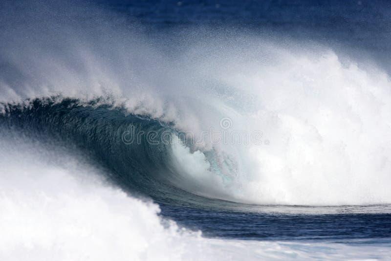 Wave Curl. Hawaiian Ocean Wave up close stock photos