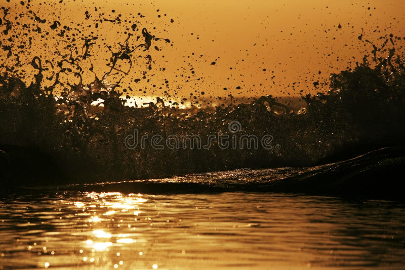 Wave On A Decline Royalty Free Stock Photo