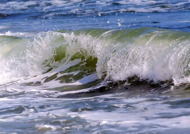 Download Wave detail stock photo. Image of shore, power, blue - 14580854