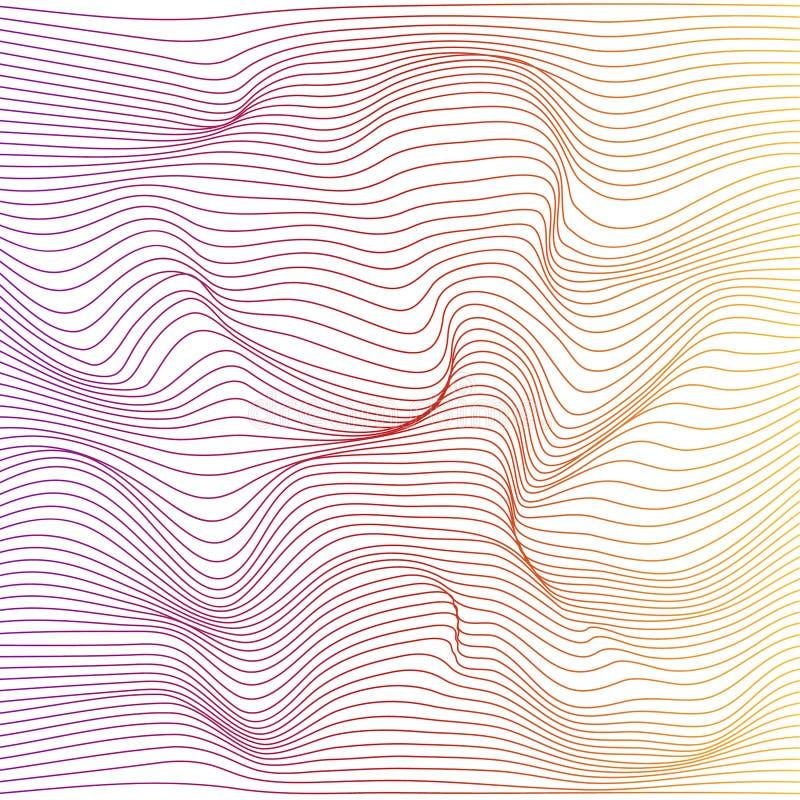 Vector color stripe deformation background. royalty free illustration