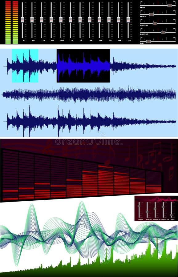 Download Wave Editor, Spectrum Analyzer Stock Vector - Illustration: 4970481