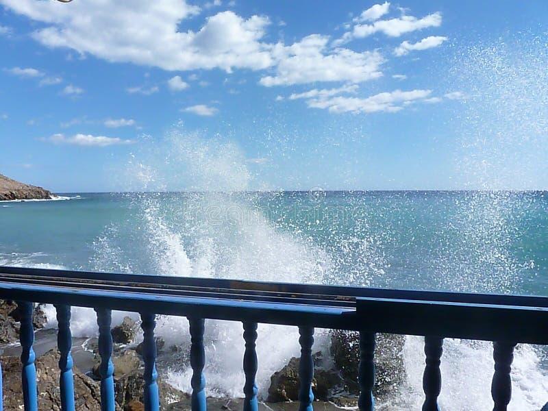 Wave energy, Lendas, Crete royalty free stock image
