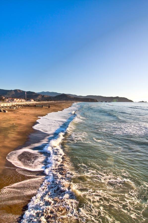 wave för hav för Kalifornien pacificapir royaltyfria foton