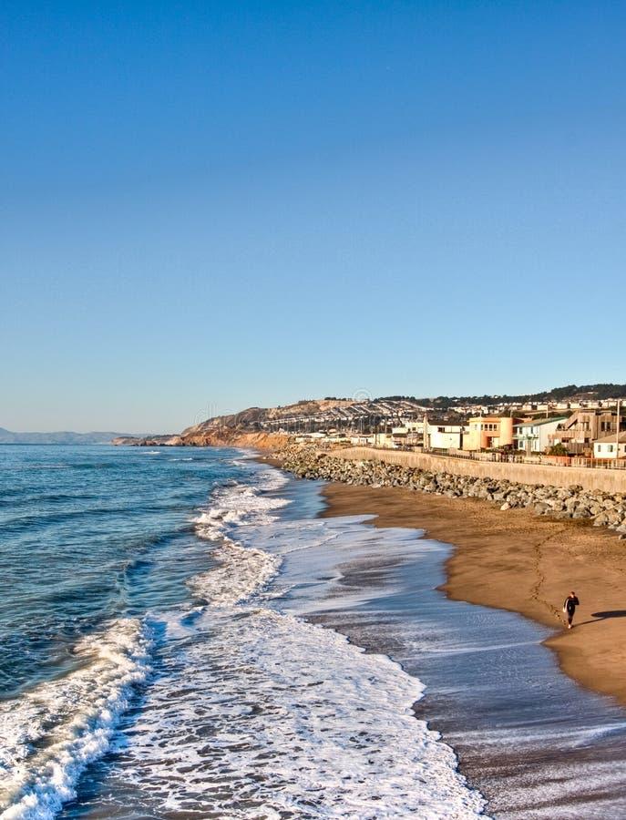 wave för hav för Kalifornien pacificapir arkivbild