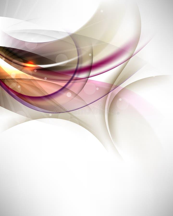 wave för vektor för element för bakgrundsbaner elegant vektor illustrationer