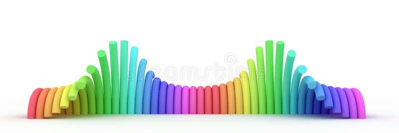 Download Wave form cylinders stock illustration. Image of diagram - 22000613