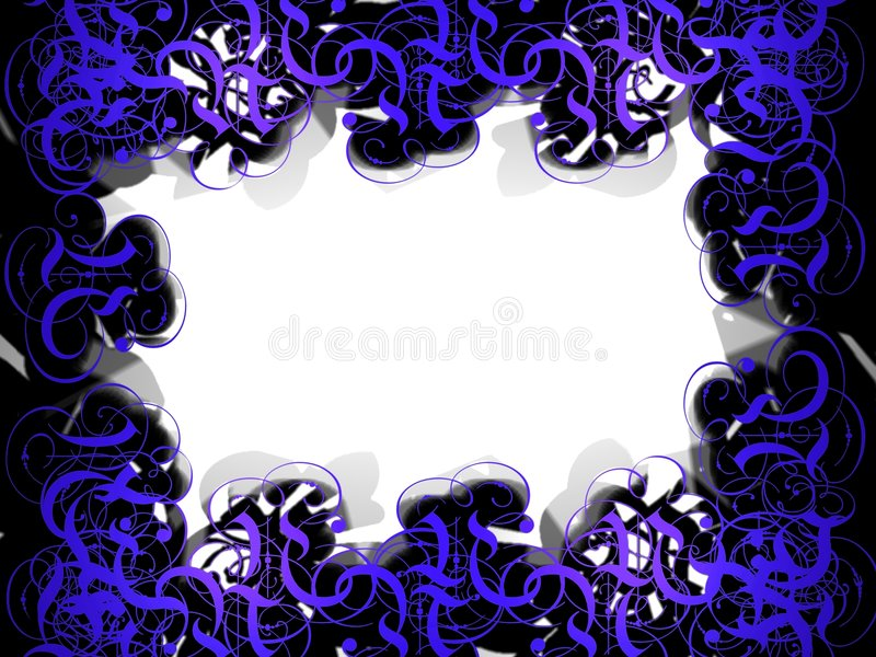 Download Wave frame 2 stock illustration. Image of background, flourishes - 2400721
