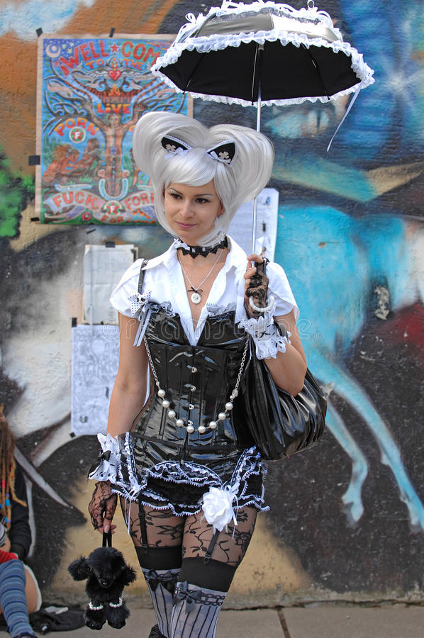 Download Wave Gothic Lady At Gothic-festival 2009 Editorial Image - Image: 9618995