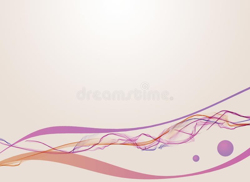 Wave. On gradient background with dots stock illustration