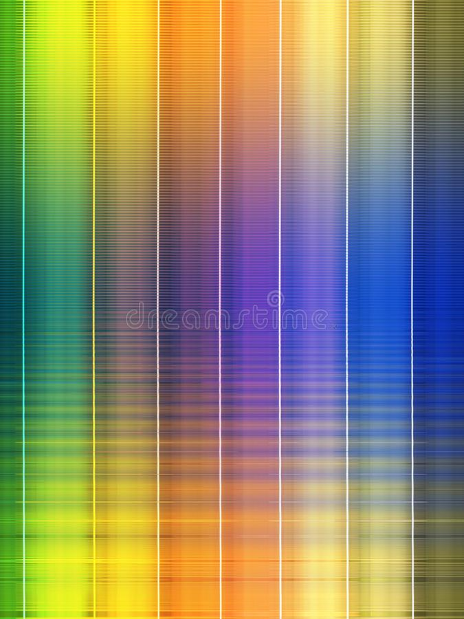 Wave grate rainbow. Grid grate rainbow abstract illustration design concept color spectrum green yellow orange purple red blue white shape angle smooth stretch royalty free stock photos