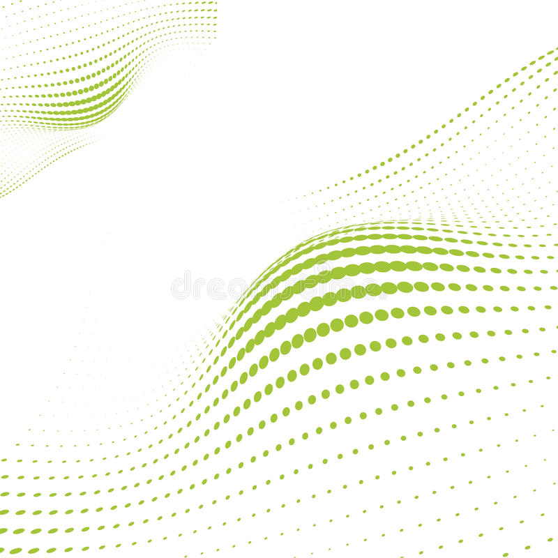 Free Wave Green Dots Royalty Free Stock Photography - 14275507