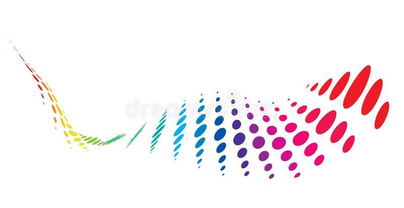Wave halftone background vector illustration