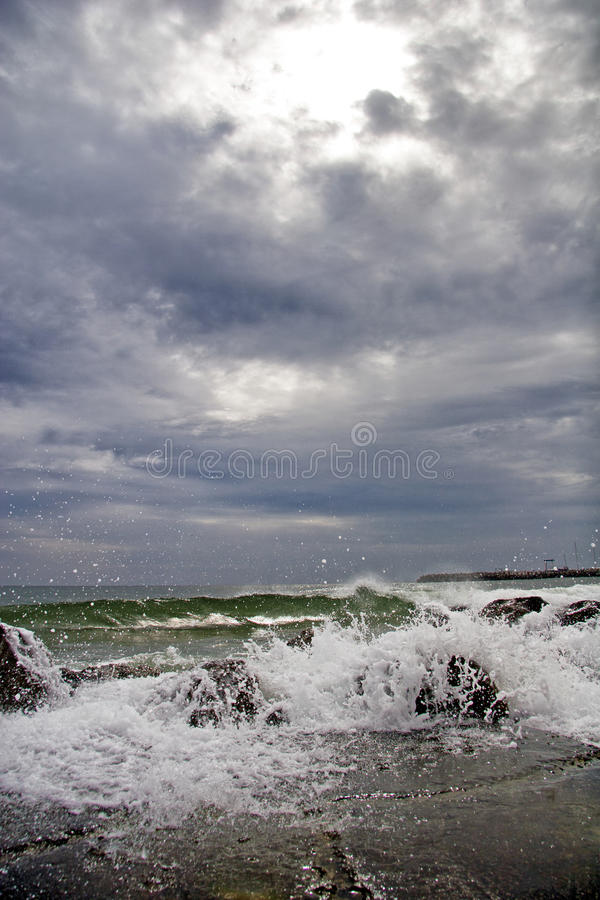 Download Wave hit stock photo. Image of small, danger, shore, beautiful - 27945174