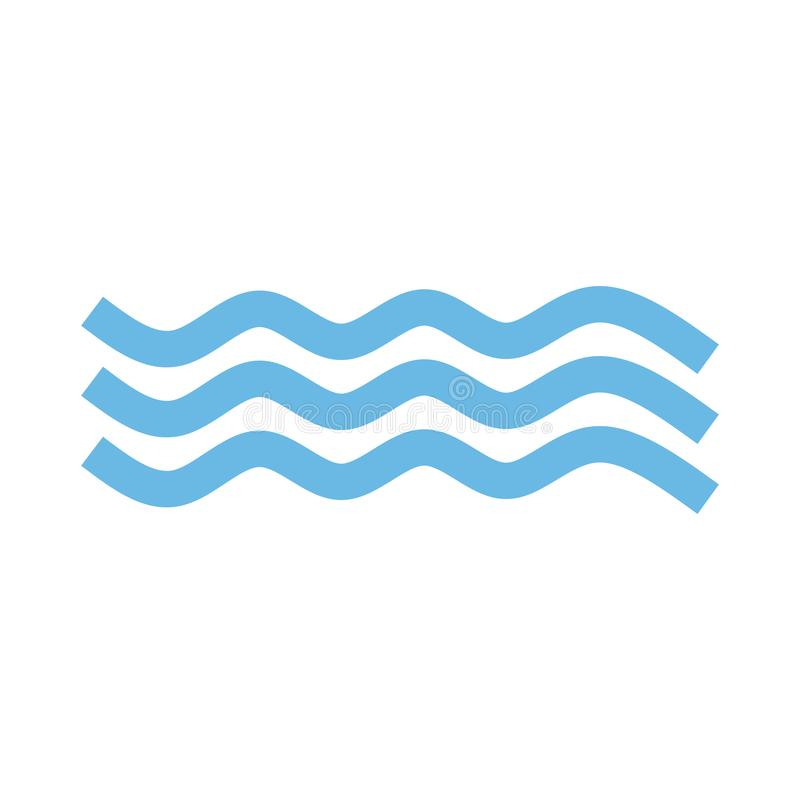 Wave Icon in trendy flat style isolated on white background. Water wave symbol for your web site design, logo, app, UI. Vector ill vector illustration